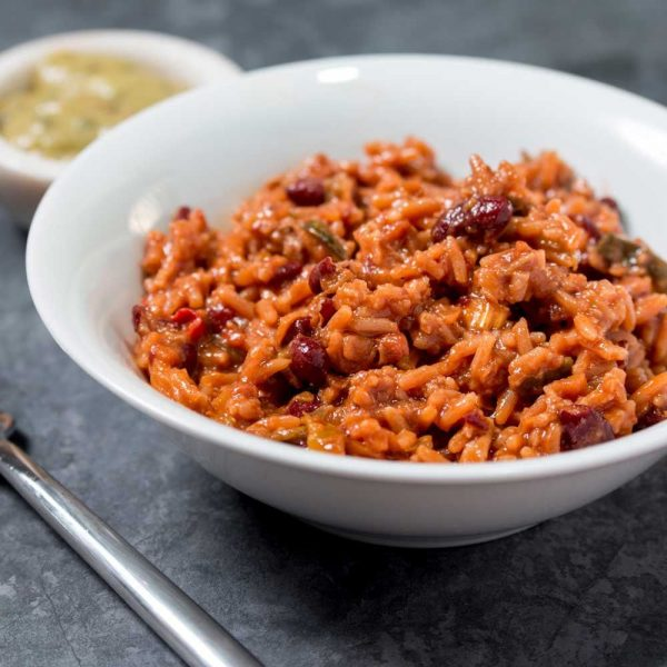 Noodrantsoen Vegetarische chili met rijst lang houdbaar voedsel