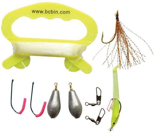 Fishing kit zelf vis vangen en opeten tijdens noodsituaties